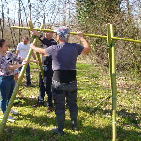 Fabrication des supports d'arc - tir nature - 30/03/2019